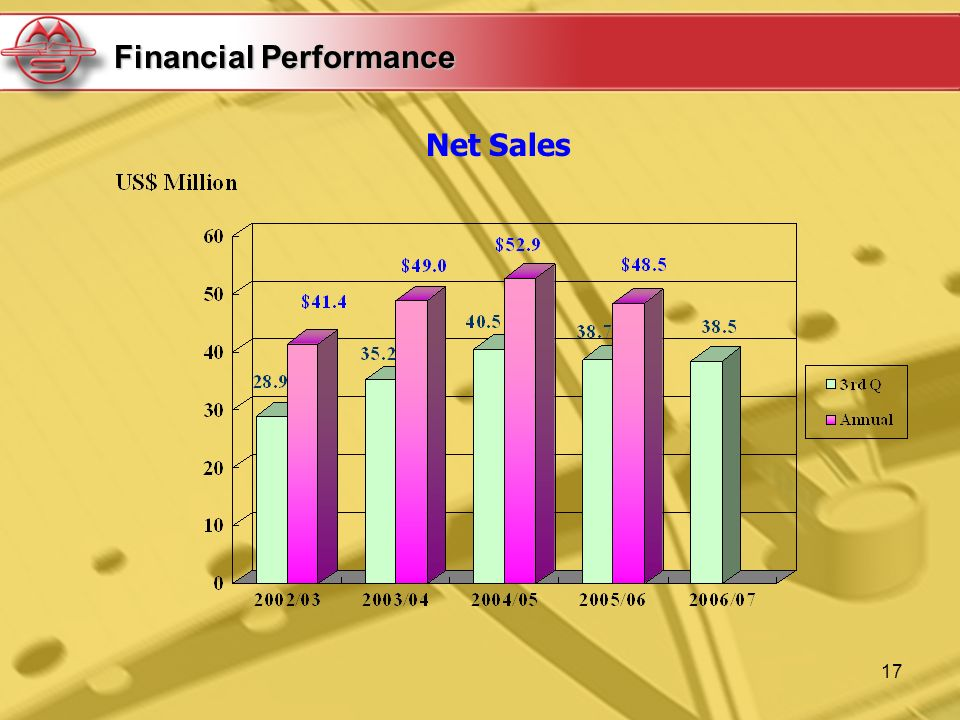 17 Net Sales Financial Performance