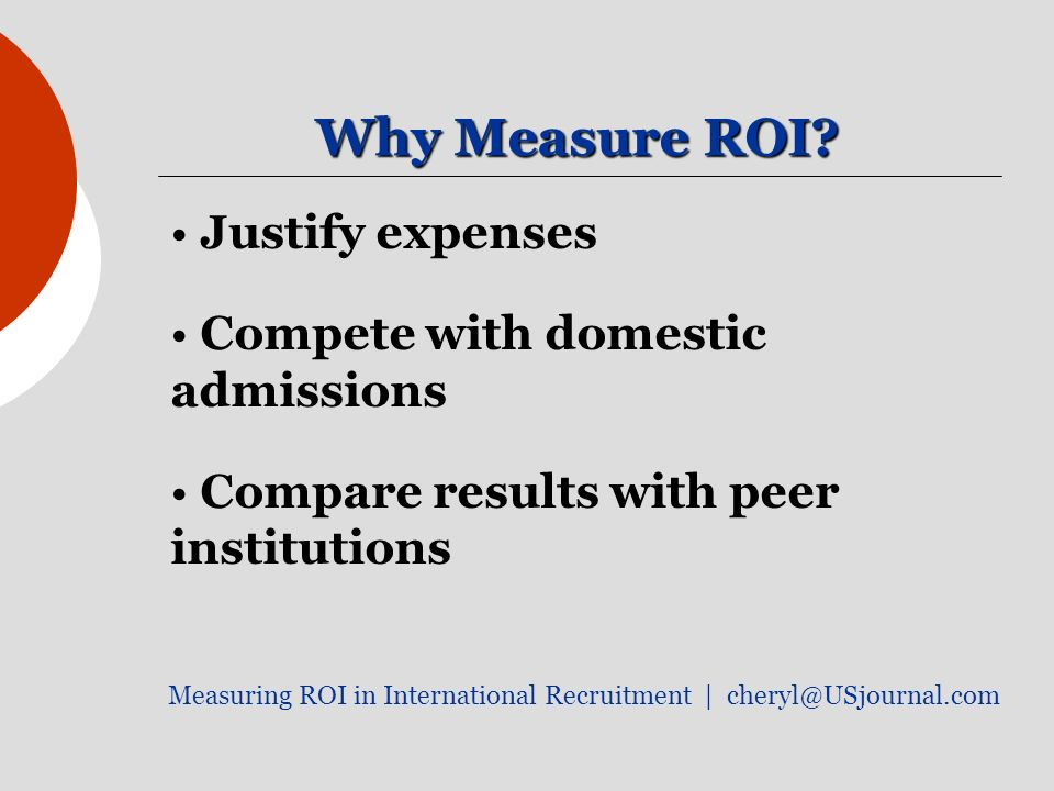Why Measure ROI.