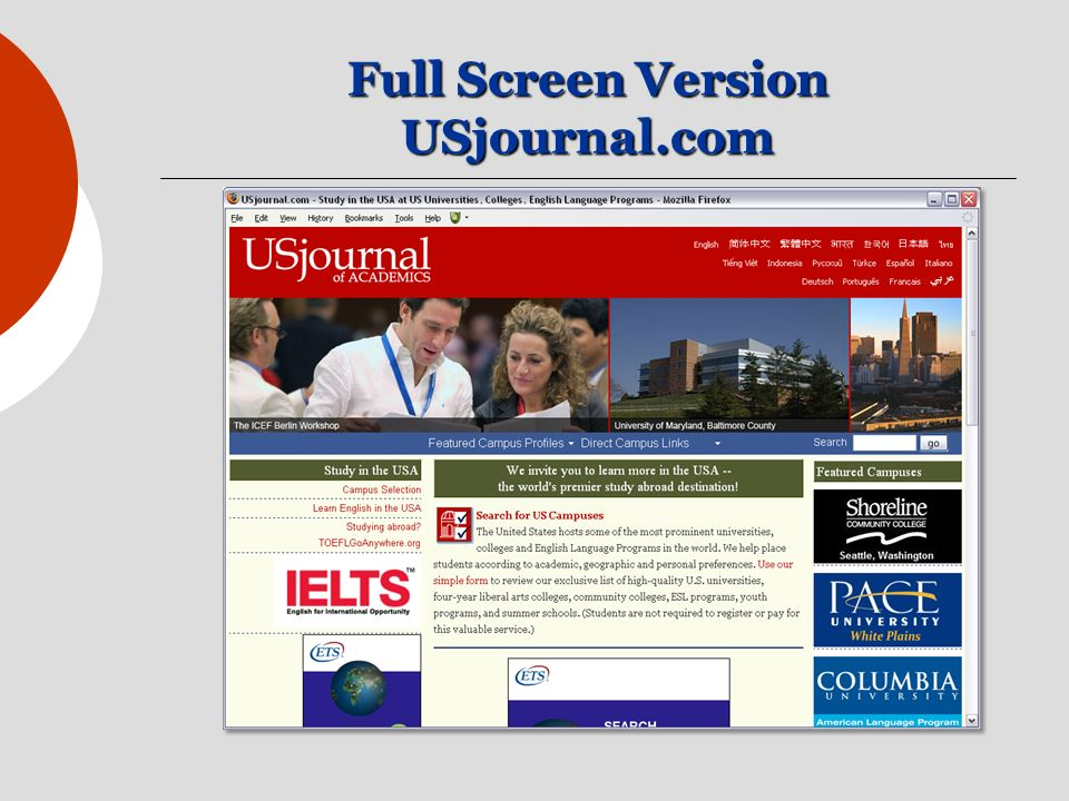 Full Screen Version USjournal.com