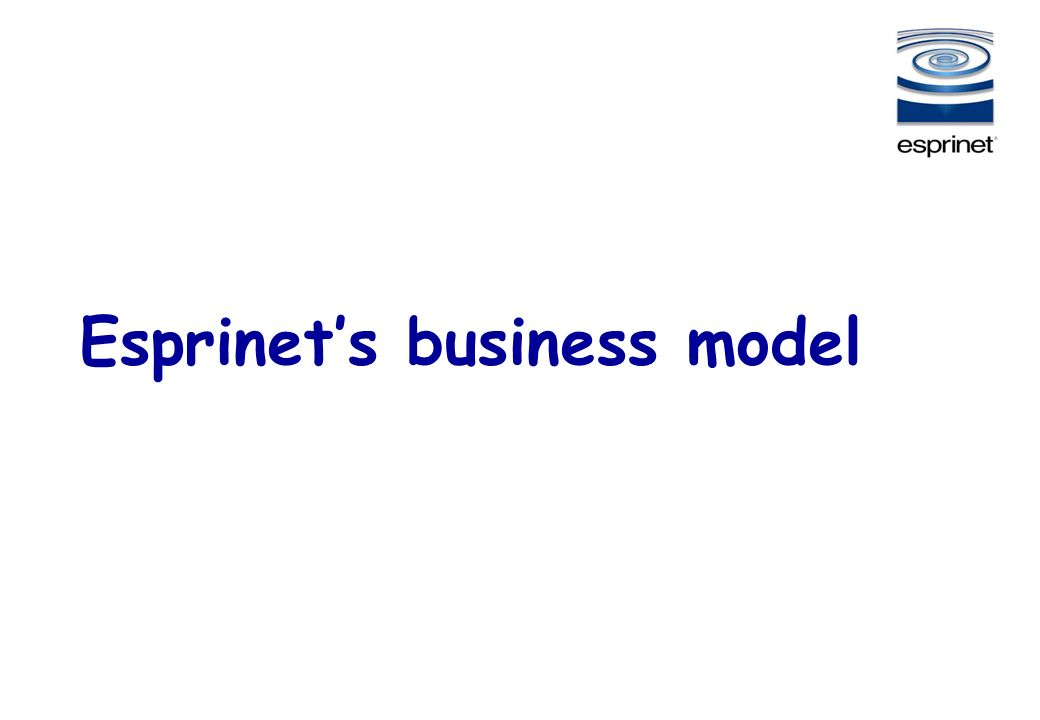 26 Esprinets business model