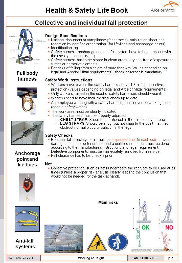 Health & Safety Life Book AM ST 003 - 005 p. 1 v.01 - Nov.