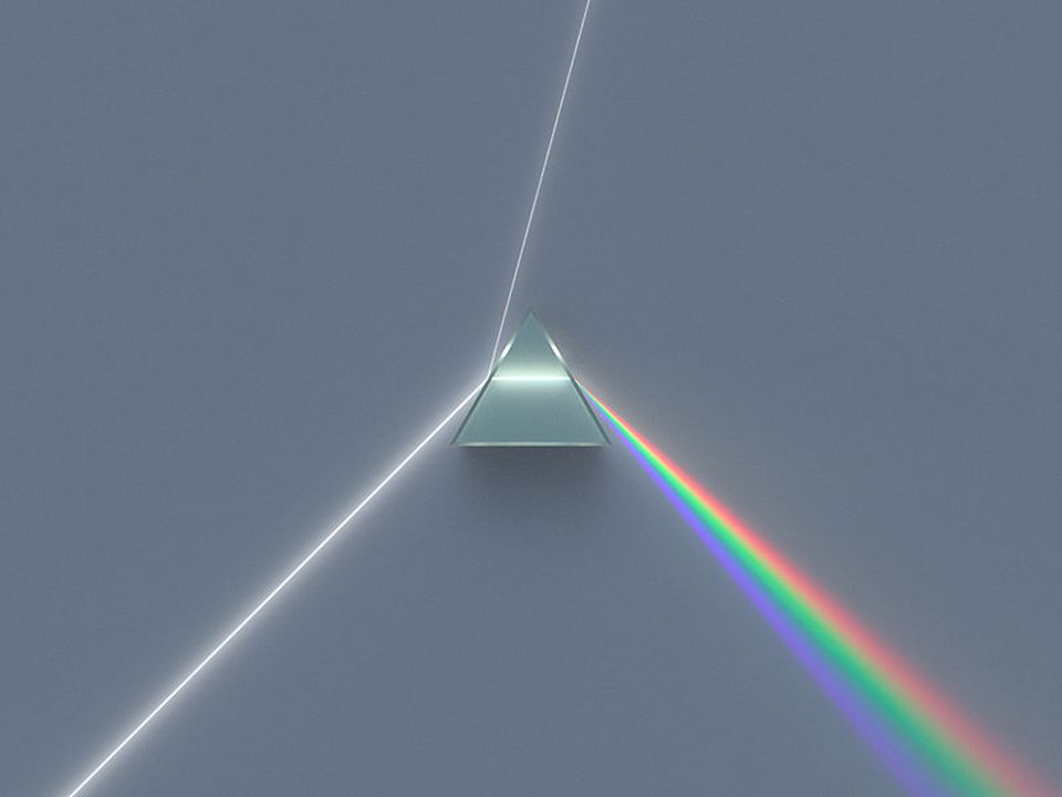 4 Dispersion We can split white light into a range of colours using a prism.
