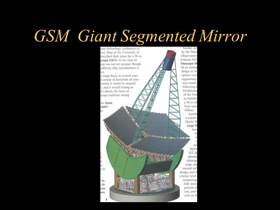 GSM Giant Segmented Mirror