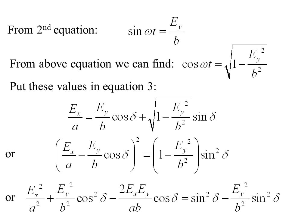 This equation in general represents an ellipse.