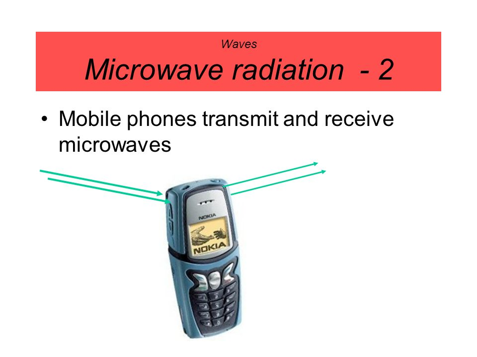 Waves Microwave radiation - 2 Mobile phones transmit and receive microwaves
