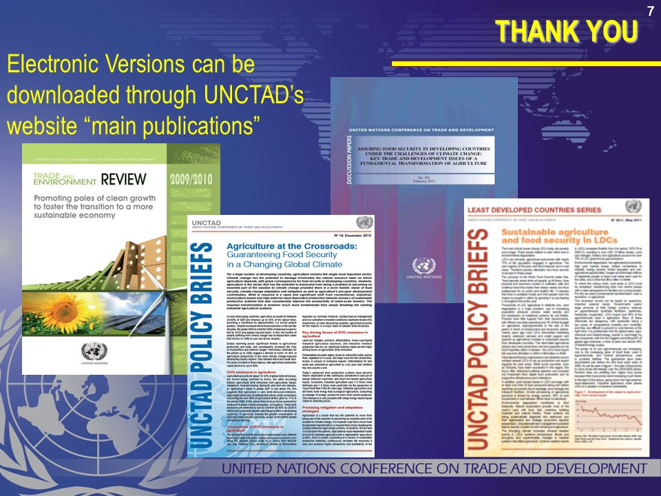 7777 Electronic Versions can be downloaded through UNCTADs website main publications THANK YOU