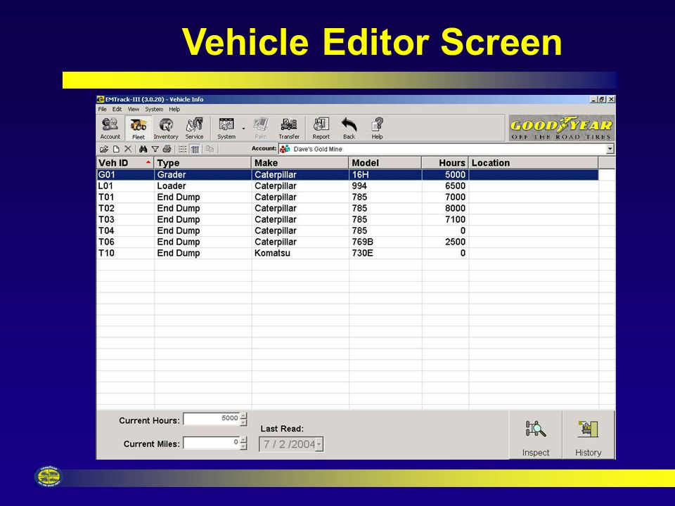 Account Editor Screen Multiple Account Registration Choose Measurement Units & Inspection Order