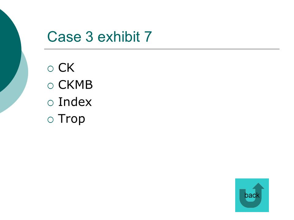 Case 3 exhibit 7 CK CKMB Index Trop back