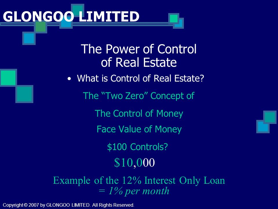 The Power of Control of Real Estate What is Control of Real Estate.