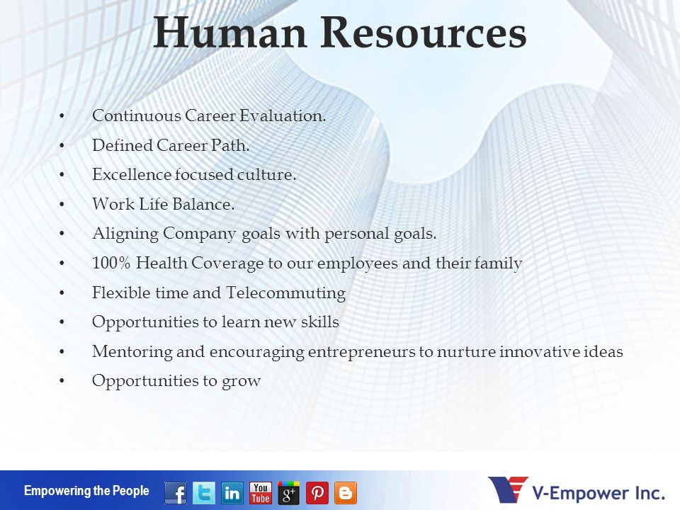 Empowering the People Human Resources Continuous Career Evaluation.
