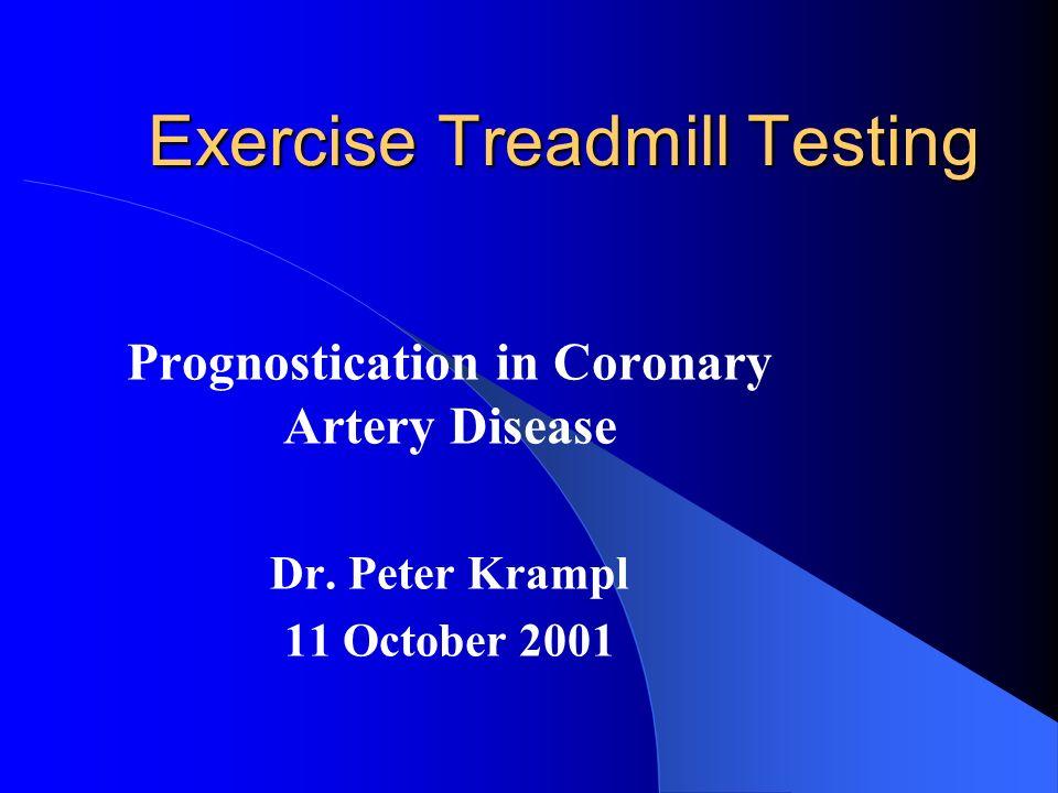 Treadmill Testing: Results Prognostic – Mark et al.