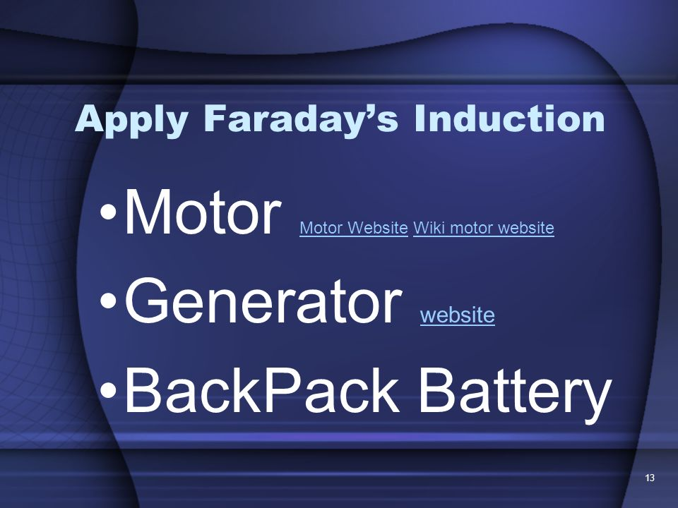 13 Apply Faradays Induction Motor Motor Website Wiki motor website Motor WebsiteWiki motor website Generator website website BackPack Battery