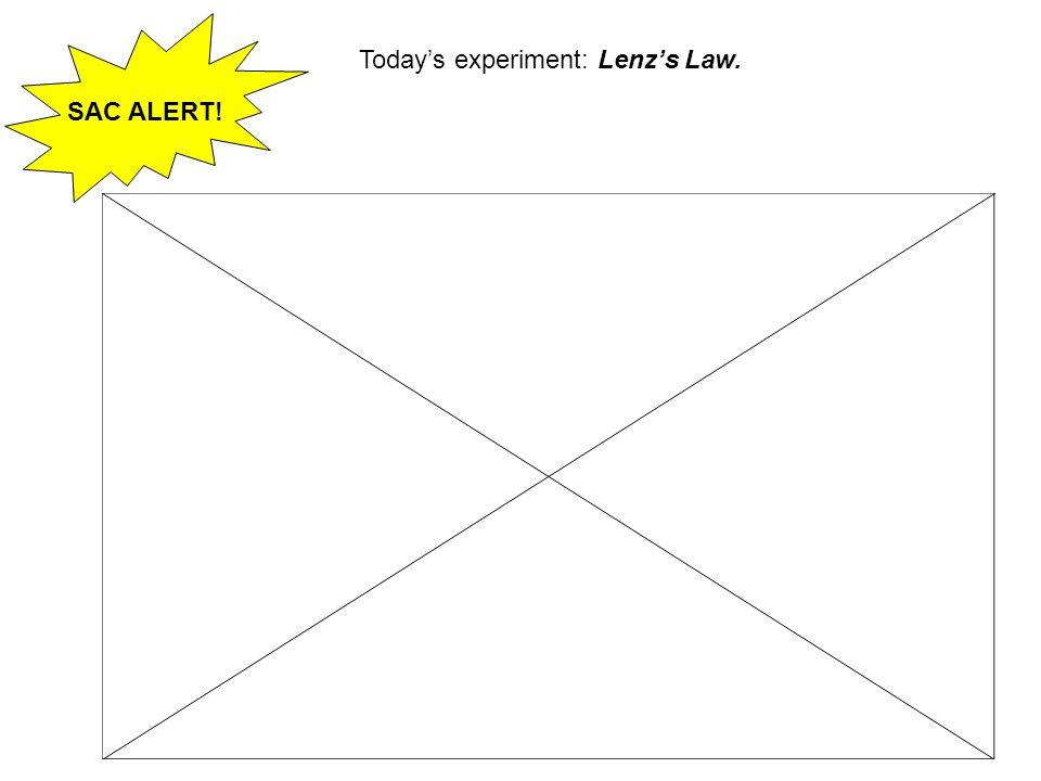 SAC ALERT! Todays experiment: Lenzs Law.