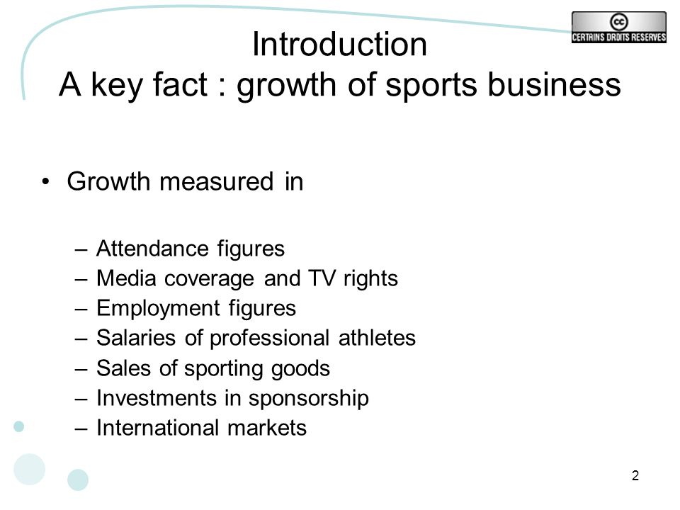 23 Example of typology of sport industry Sport Business in the Global Marketplace, 2004