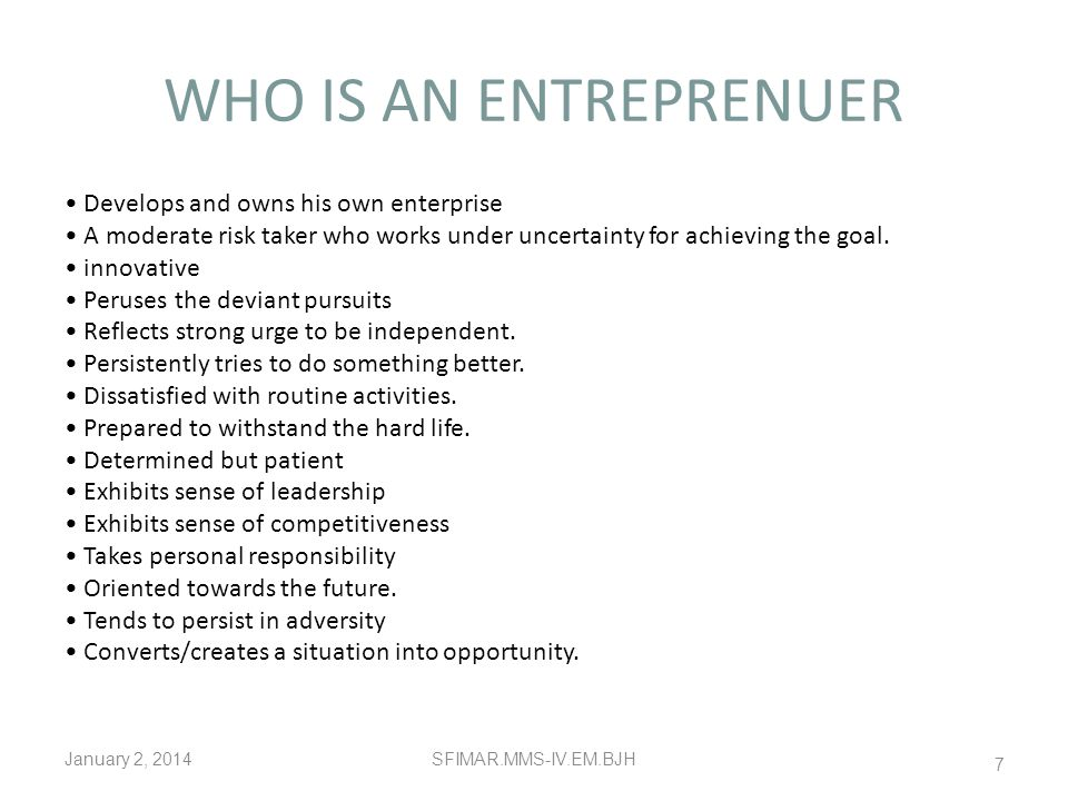 AN ENTREPRENEURIAL CAREER Entrepreneurship plays an important role in the economic growth and development of nation. Purposeful activity that includes