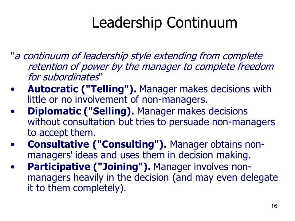 16 Leadership Continuum