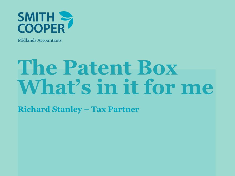 Patent Box: which patents qualify.