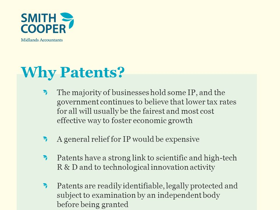 Why Patents.