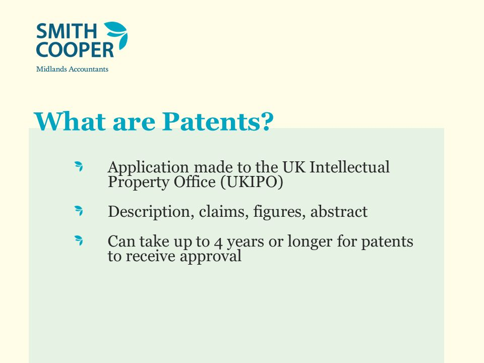 What are Patents used for.