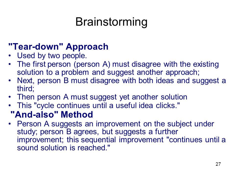 27 Brainstorming