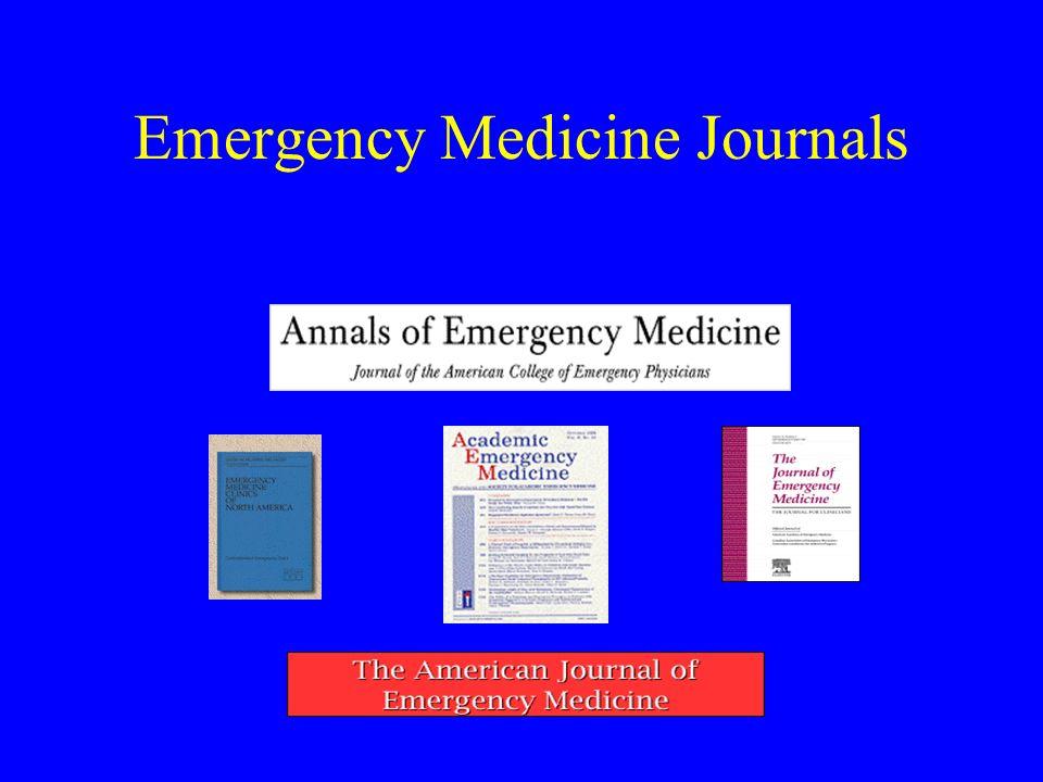 Emergency Medicine Journals