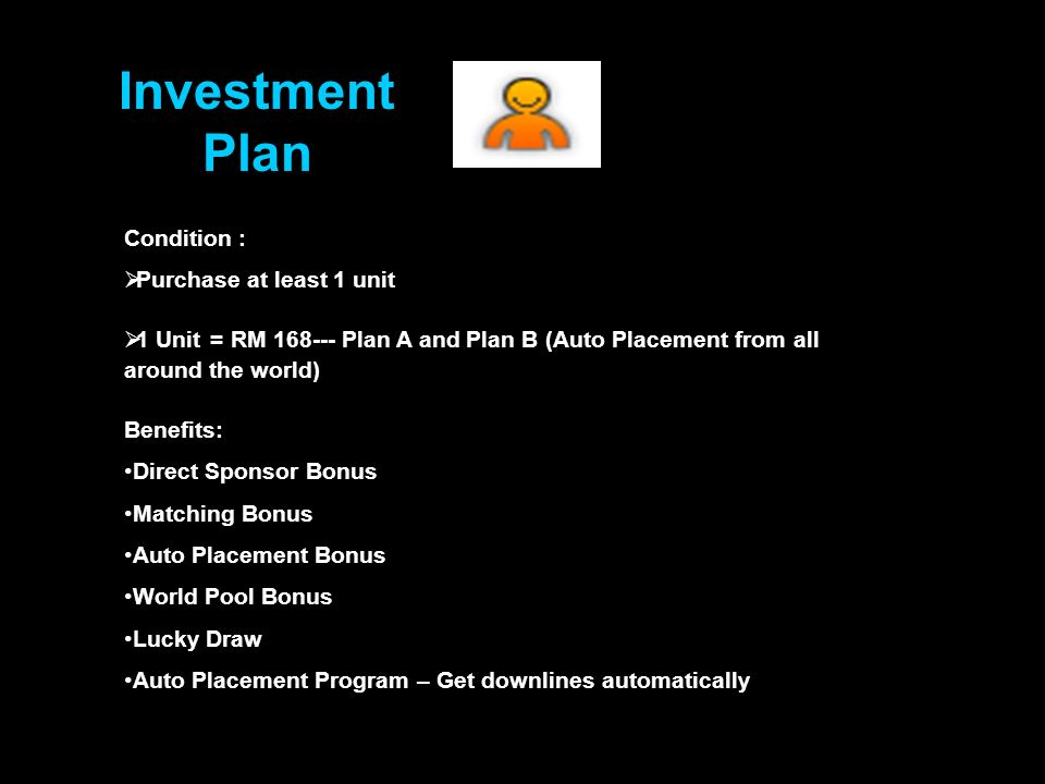 Auto Placement System Even if you do not have time to sponsor new people, the Auto Placement System will also include international members / downlines into your network.