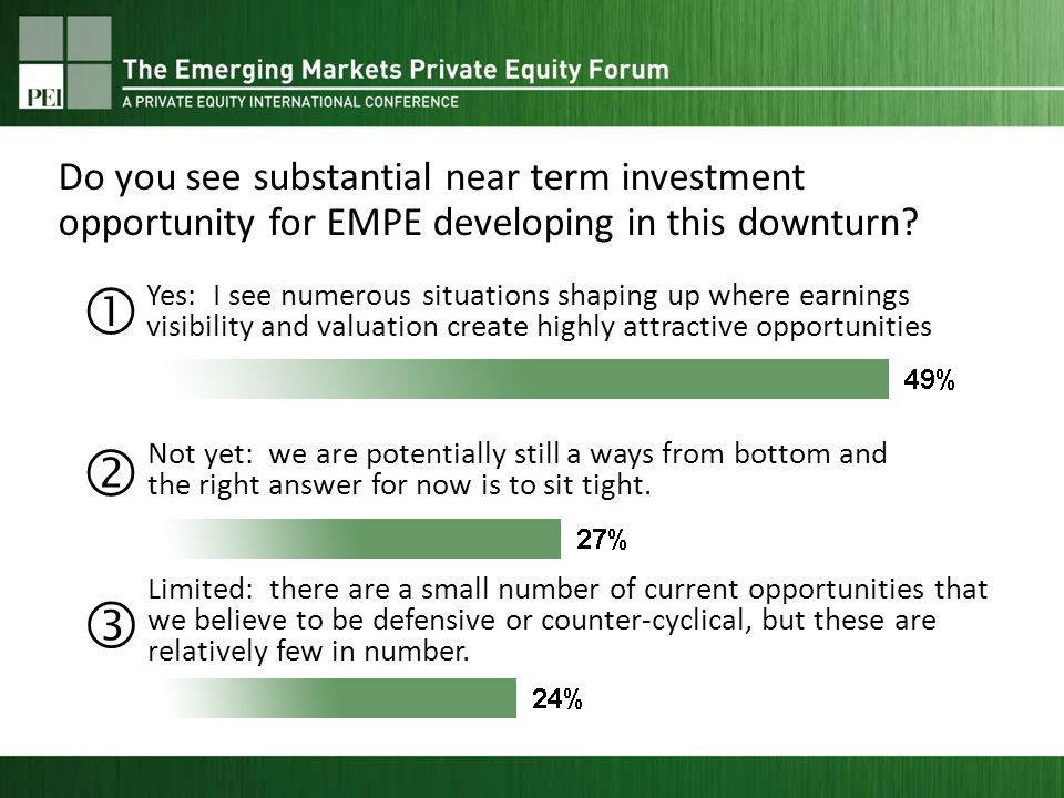 Yes: I see numerous situations shaping up where earnings visibility and valuation create highly attractive opportunities Not yet: we are potentially still a ways from bottom and the right answer for now is to sit tight.