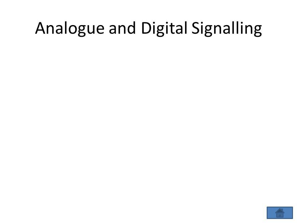 Analogue and Digital Signalling