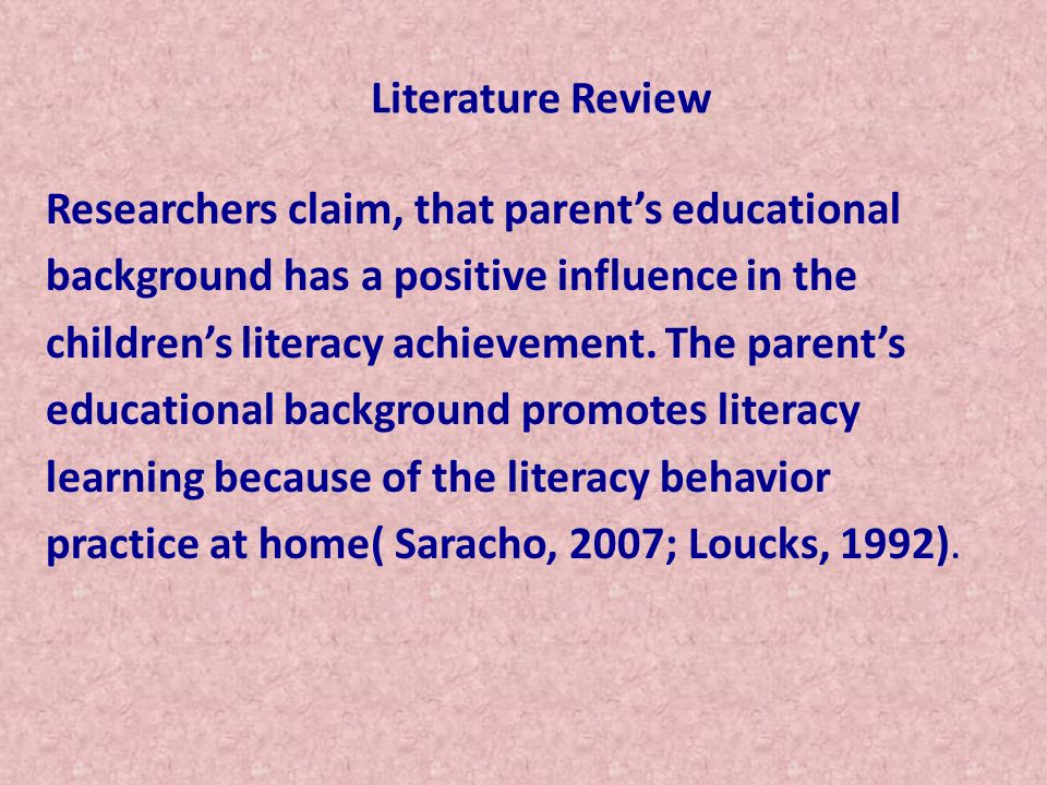 Literature Review Very little research has been done on English language learners writing development.
