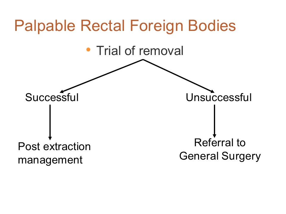 The Difficulty with Removing Rectal FB FB usually has a smooth surface, difficult to grasp Often very friable (e.g. vegetable) or very hard (glass) Mu