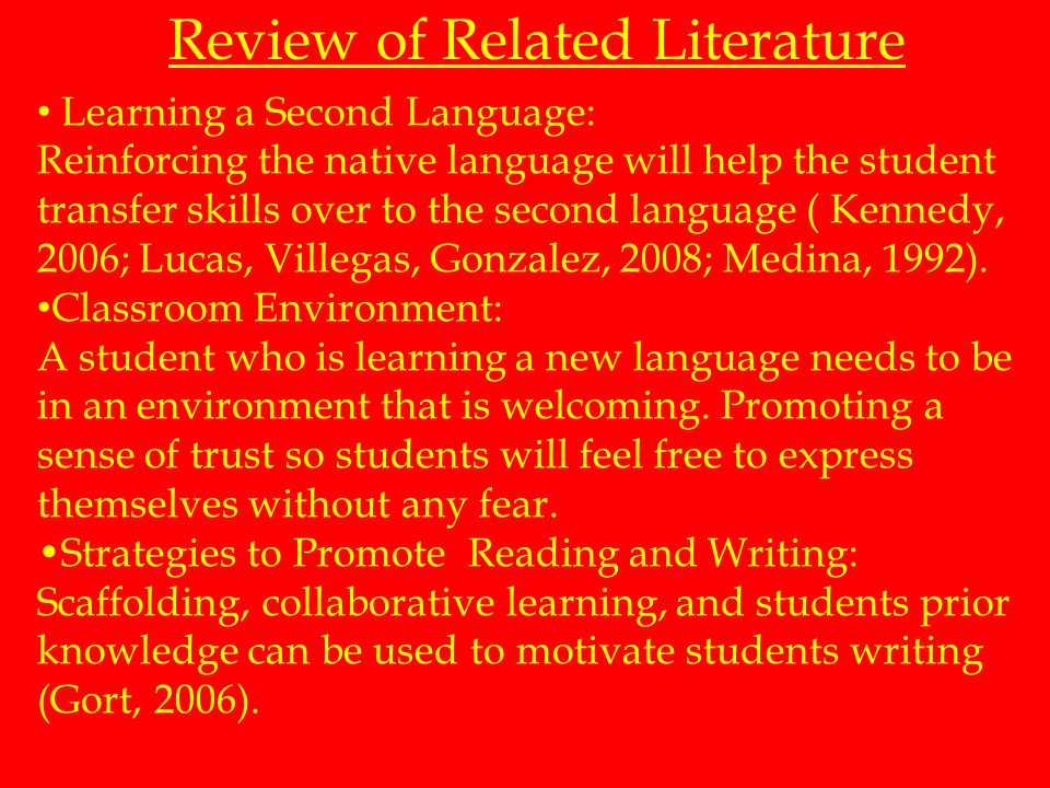 Other researchers claim that students must be exposed to the English language as quickly as possible. Students need to assimilate, take in information