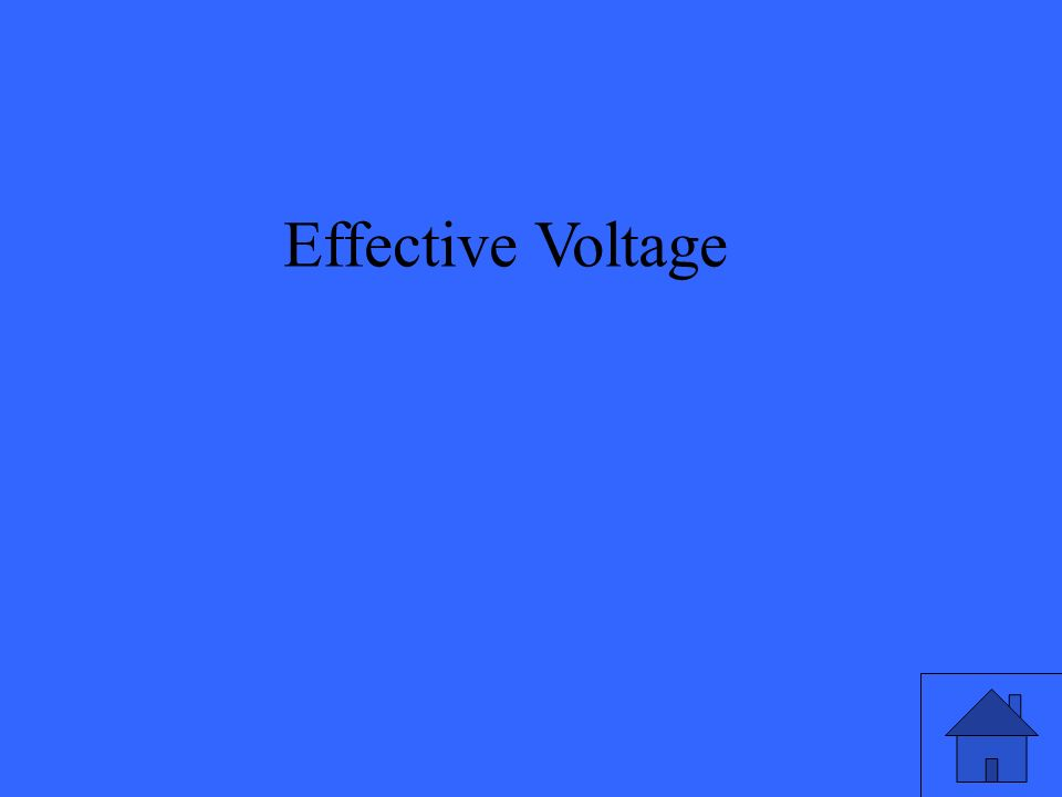 Effective Voltage