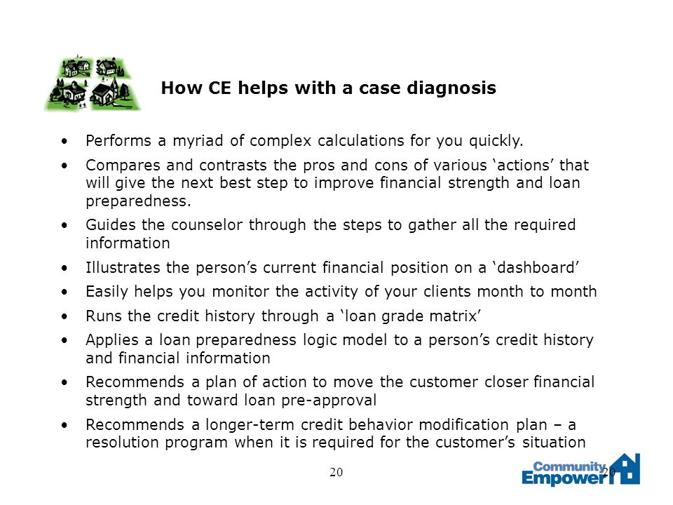20 How CE helps with a case diagnosis Performs a myriad of complex calculations for you quickly.