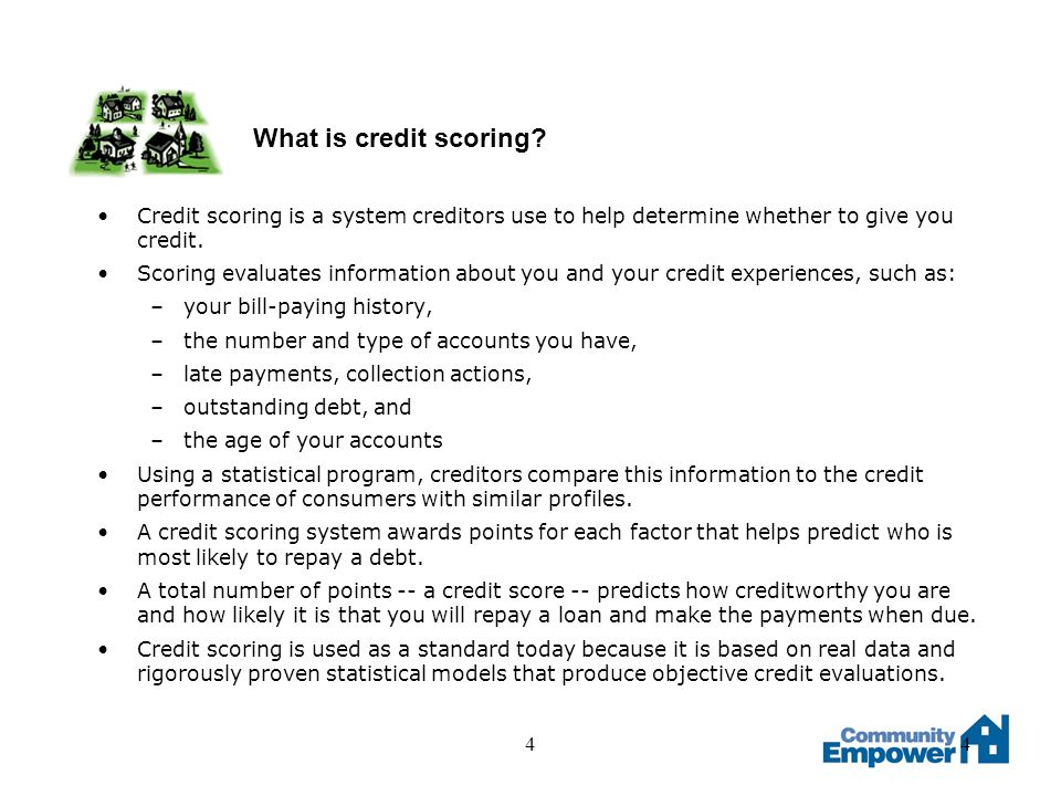 55 How is a credit scoring model developed.