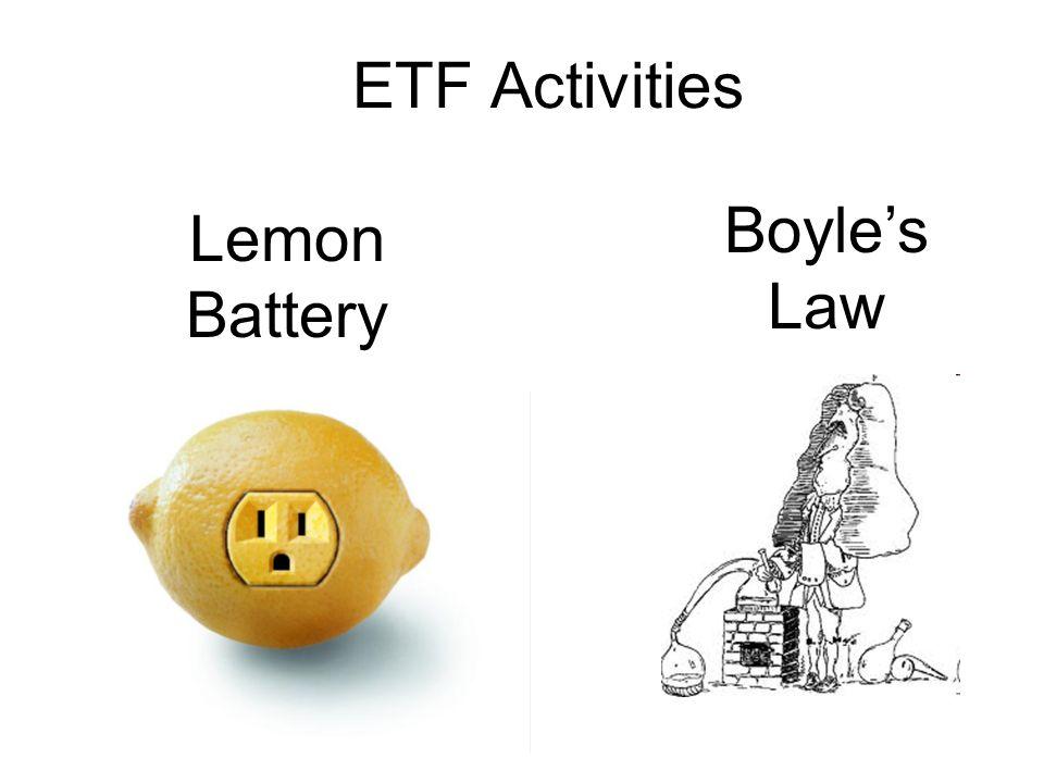 ETF Activities Lemon Battery Boyles Law