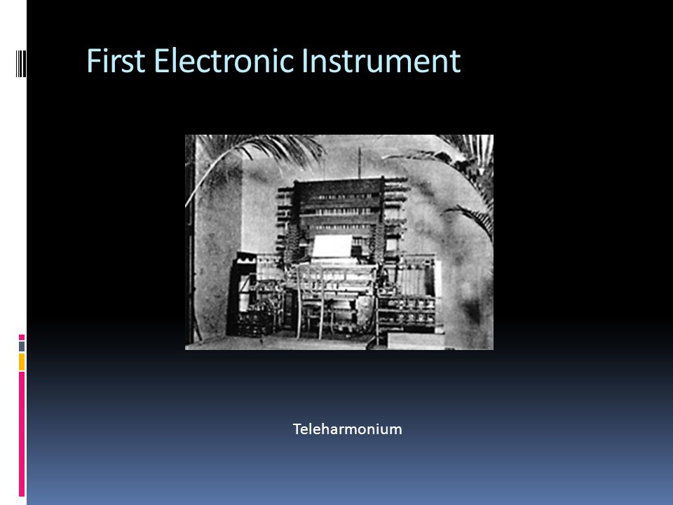 First Electronic Instrument Teleharmonium