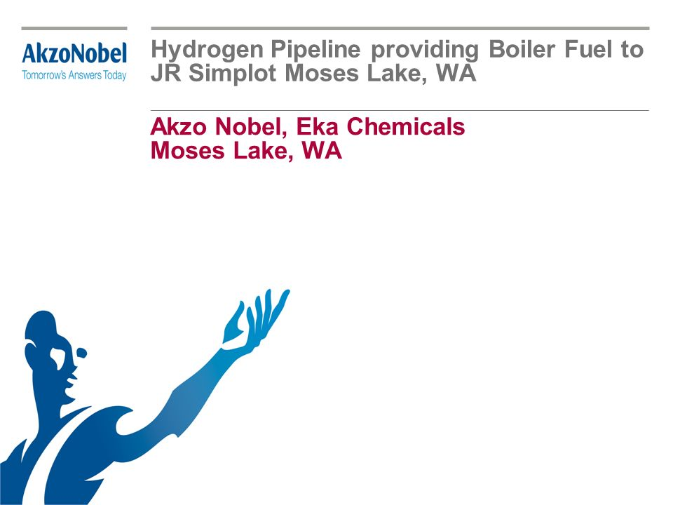 Akzo Nobel, Eka Chemicals Moses Lake, WA Hydrogen Pipeline providing Boiler Fuel to JR Simplot Moses Lake, WA