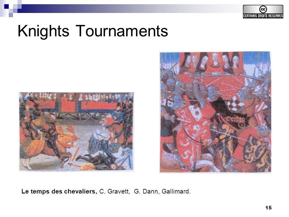 15 Knights Tournaments Le temps des chevaliers, C. Gravett, G. Dann, Gallimard.
