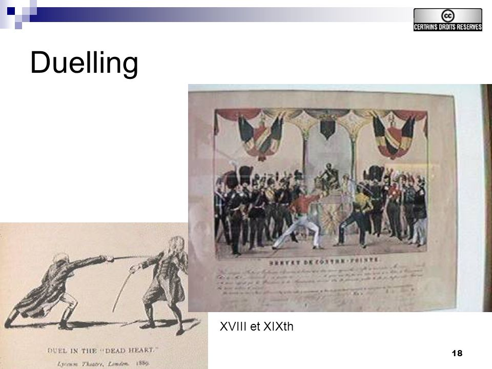 18 Duelling XVIII et XIXth