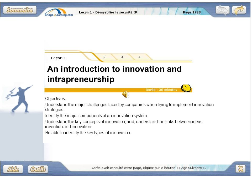 An introduction to innovation and intrapreneurship Objectives.