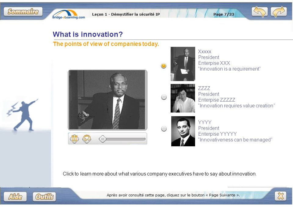 What is innovation. The points of view of companies today.