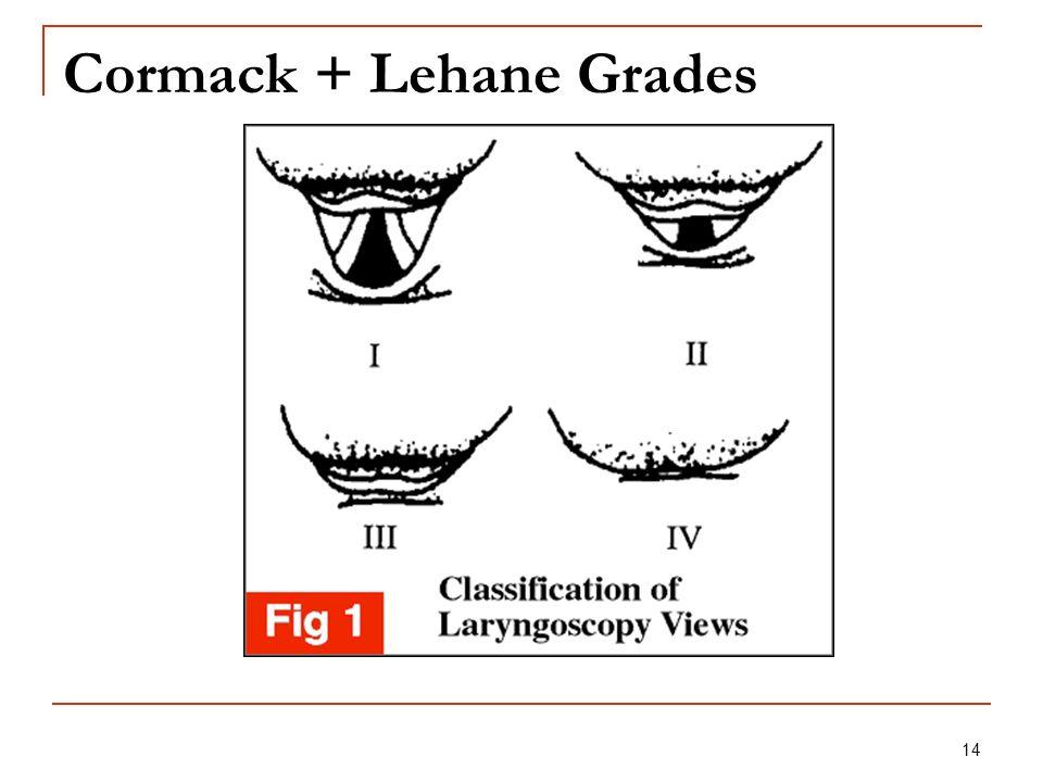 14 Cormack + Lehane Grades