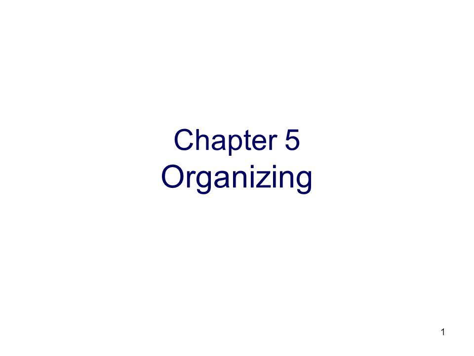 1 Chapter 5 Organizing