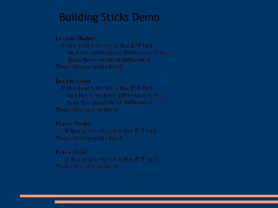 Building Sticks Demo