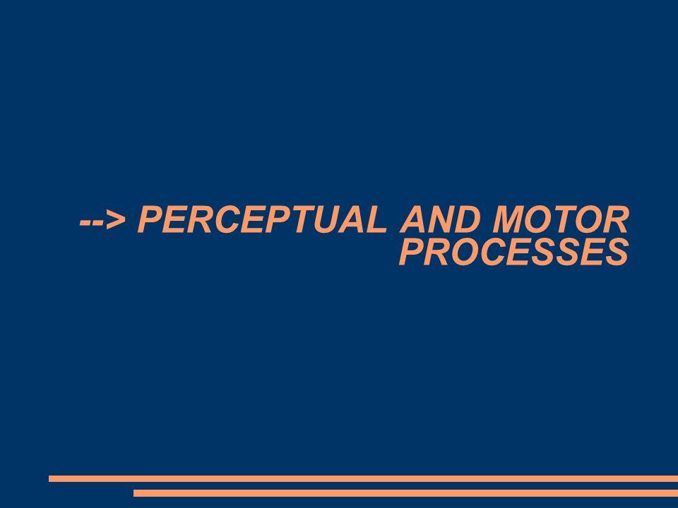 --> PERCEPTUAL AND MOTOR PROCESSES