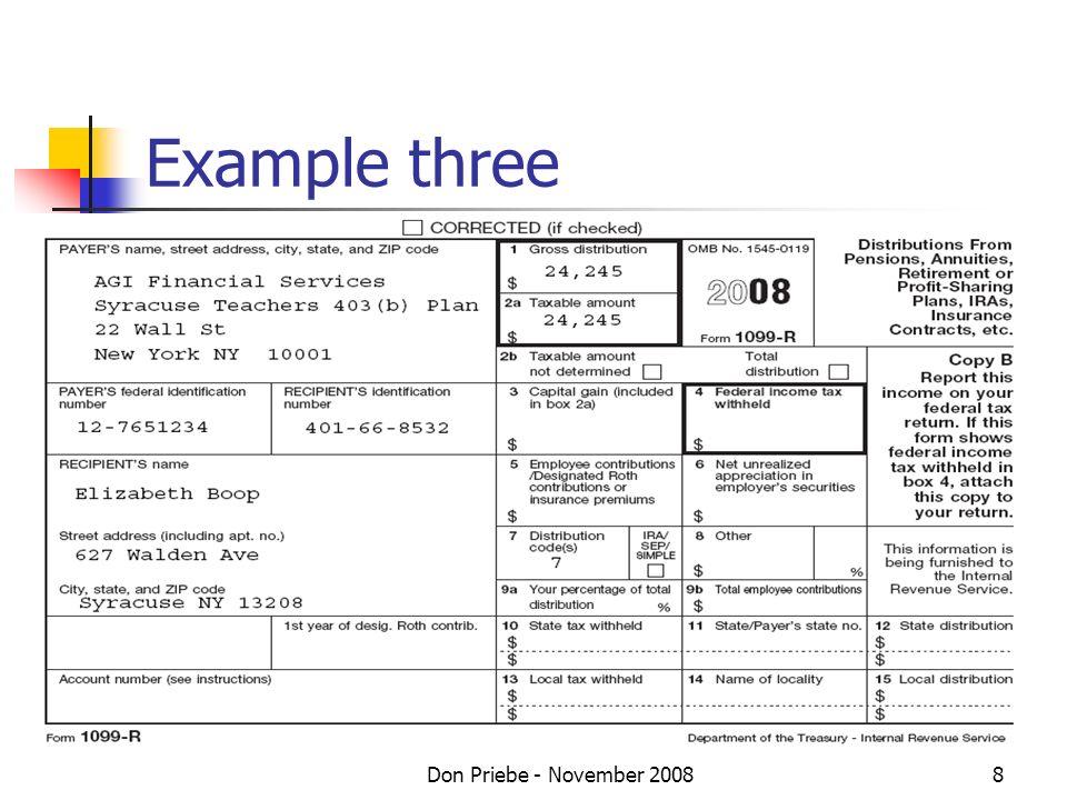 Don Priebe - November 20088 Example three