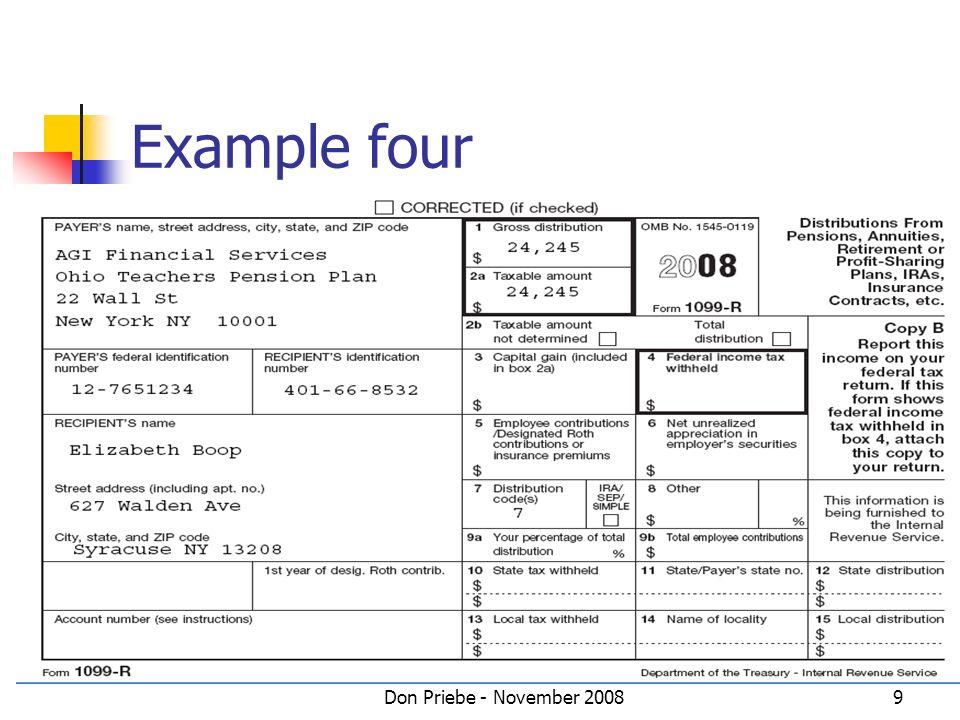 Don Priebe - November 20089 Example four