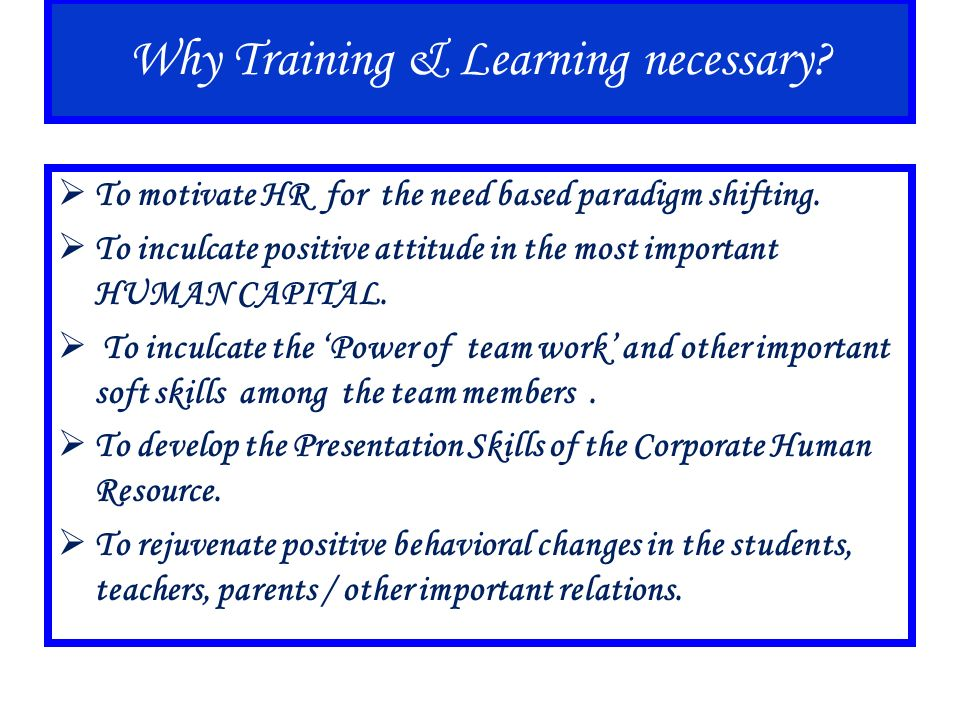 Our Achievements In our journey of 5 years, R Trainers & Motivators has a privilege to conduct various result-oriented, effective and successful training programs in the organizations in the diverse segments from Manufacturing to Service and from Front Office Personnel to Top Management.