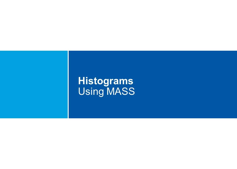 Histograms Using MASS