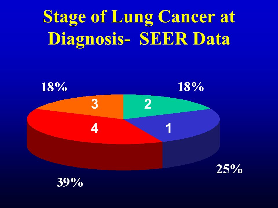 Stage of Lung Cancer at Diagnosis- SEER Data 1 23 4